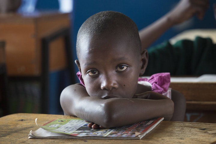 Kuria girl in the Masanga rescue centre, Tanzania
