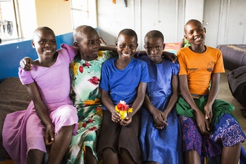 Girls at the Masanga rescue centre, Tanzania