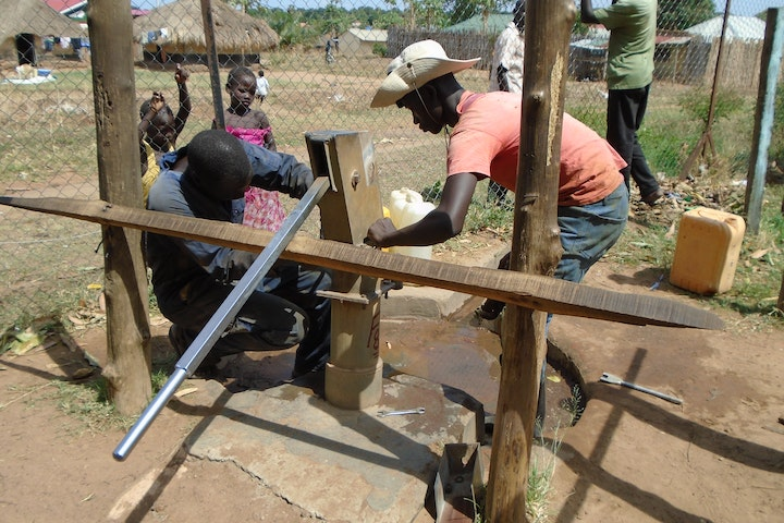 Borehole in South Sudan, Yei