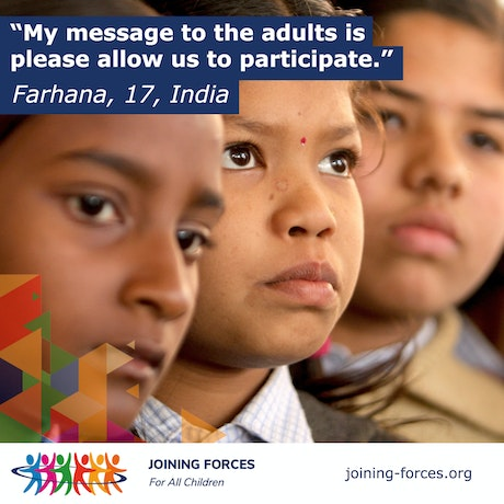 Children's Right to Be Heard: We're Talking; Are you Listening? Joining Forces policy brief