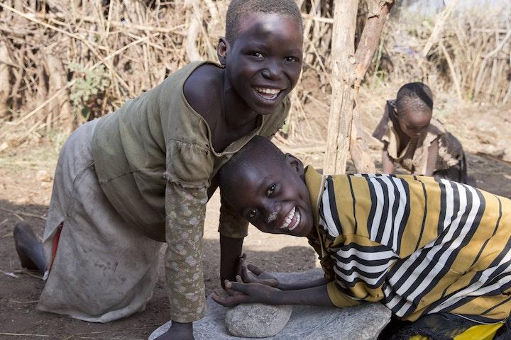 Children in Napak district, Uganda