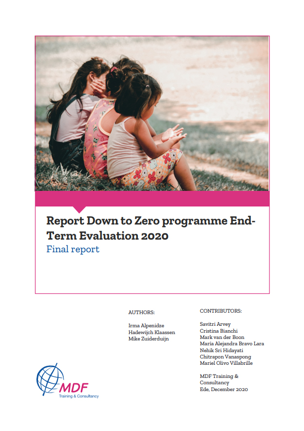 Report Down to Zero programme End Term Evaluation 2020