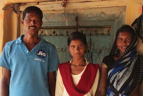 Parmila met haar ouders
