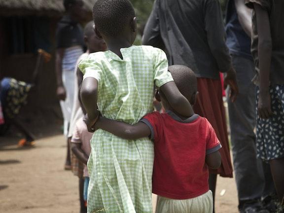 Children roaming the street in Kenya