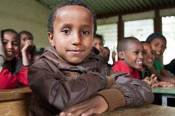School boy in Ethiopia