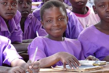 School girl in Uganda