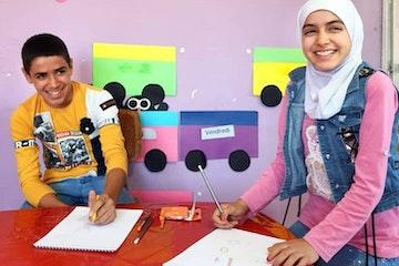 Ribah en Maysa hebben weer plezier in leren