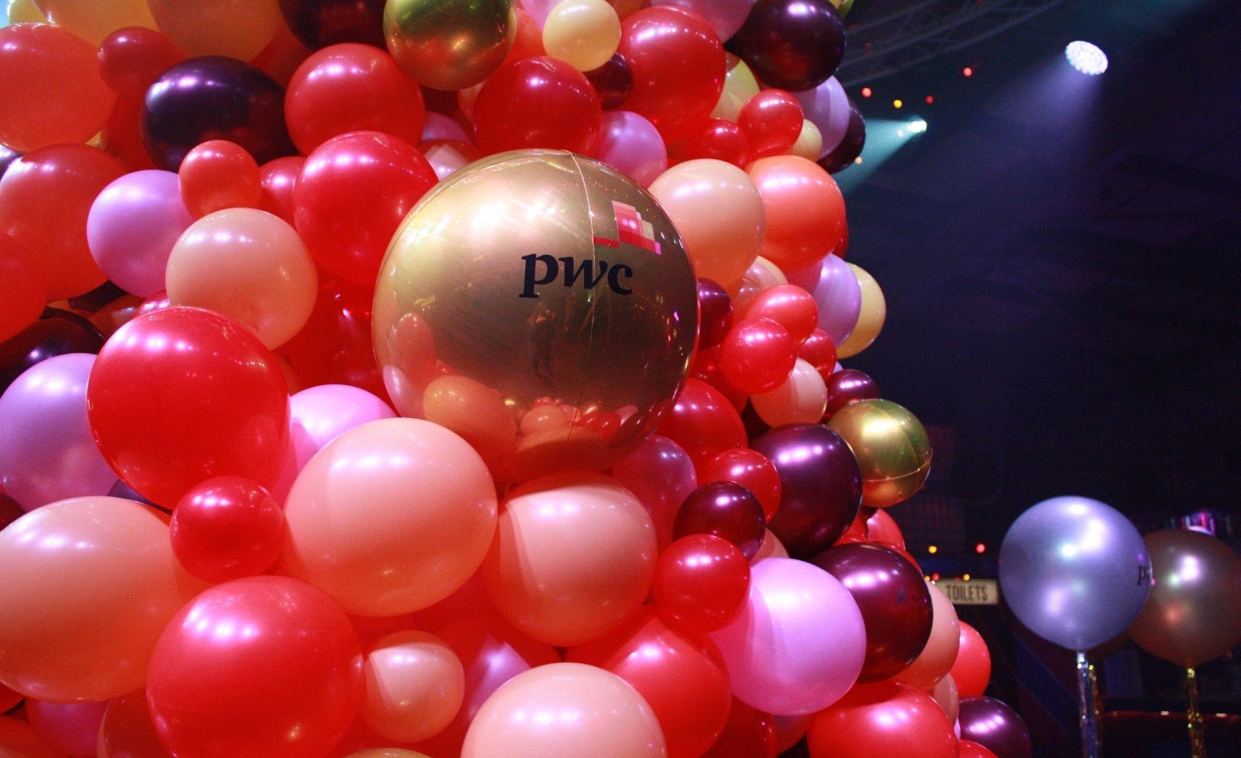 Corporate Christmas party Balloon installation
