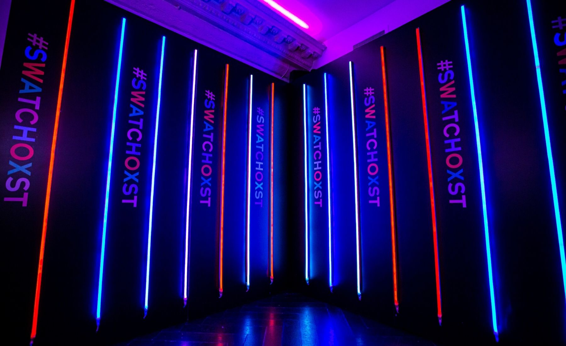 Swatch store re-opening, neons