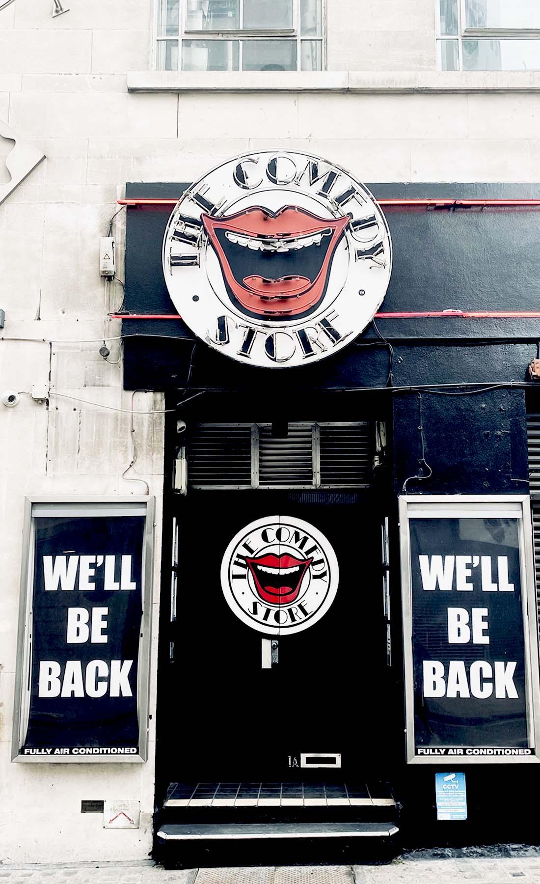 comedy store front doors