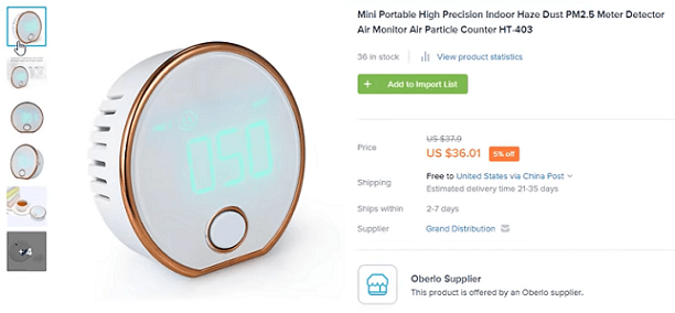 This air quality monitor is one of the best product ideas in the health and wellness niche
