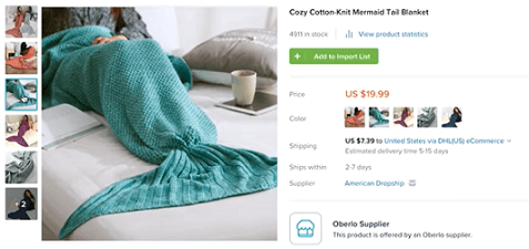Sell this mermaid blanket in your dropshipping store in 2019