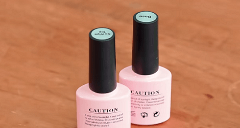 How Mandie and Aubrey turned their hobby into a business with products like this nail polish