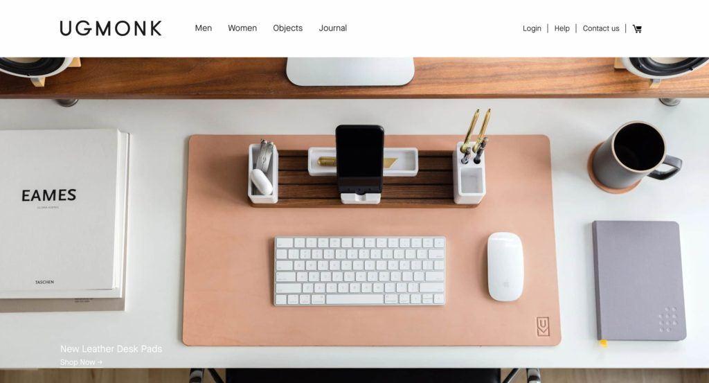 Online stores like Ugmonk have great design