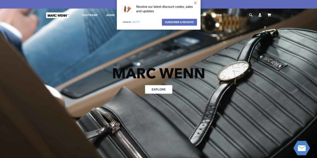 Marc Wenn online stores home page