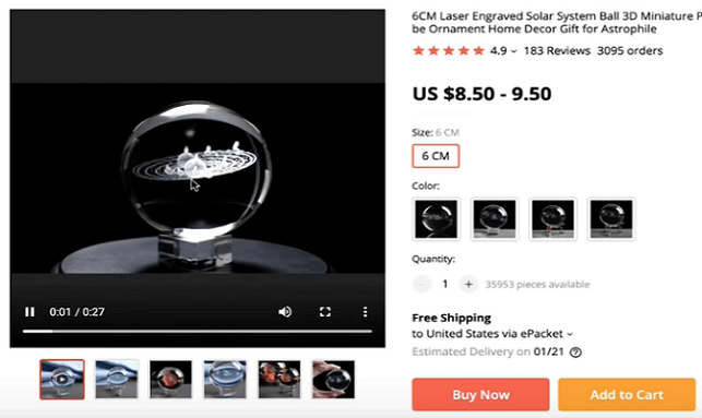 The 3D solar system ball is one of the best things to sell in 2020