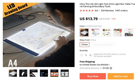 Top items to sell in 2020 include this tracing light tool