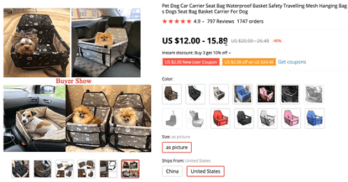 Be breed-specific for your Facebook ads when selling the dog car carrier