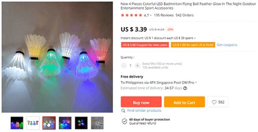 LED badminton corks should not be sold in the US due to a lack of popularity