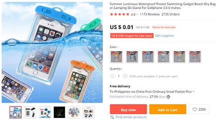 Waterproof cell phone pouches are also on the list of products to avoid dropshipping this year