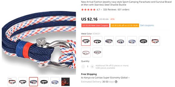 Store Idea 4: fan bracelets