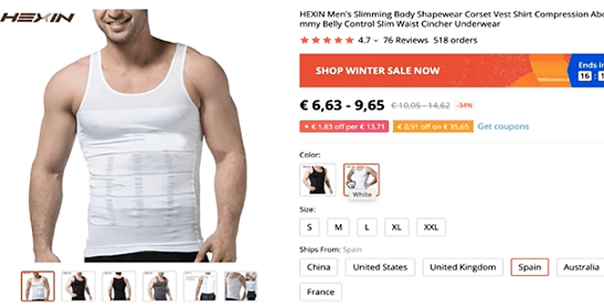 Why not dropship this men's slimming tank to your customers