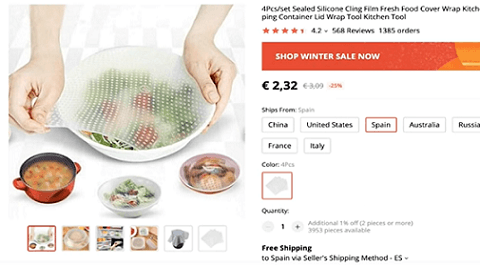 Consider selling this silicone cling wrap for your dropshipping business