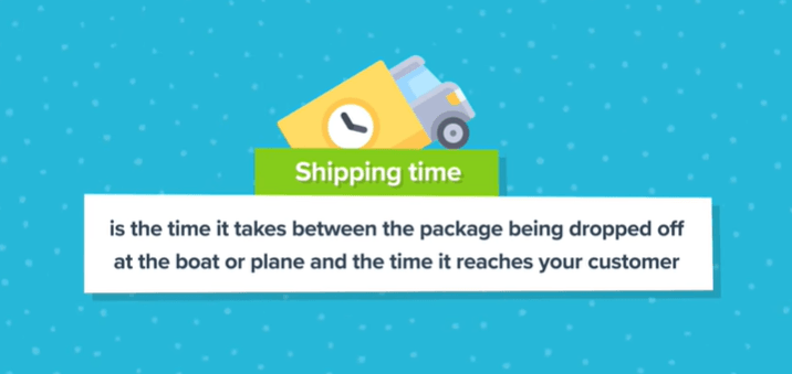 Definition of shipping time