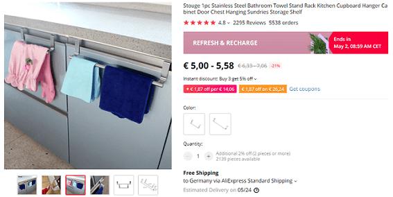 Dropship these kitchen towel racks