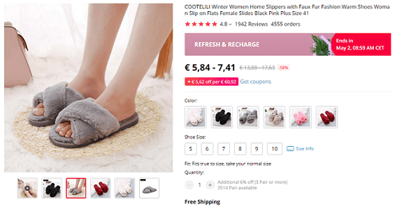 House slippers are great products to dropship now