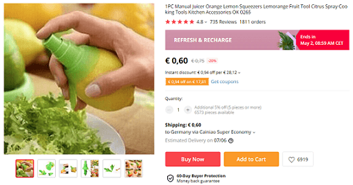 One good online business idea is this juicer