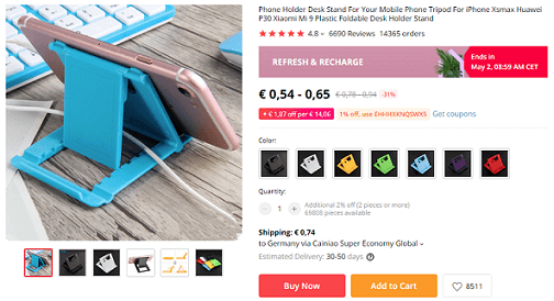 Phone holders are great products to dropship now