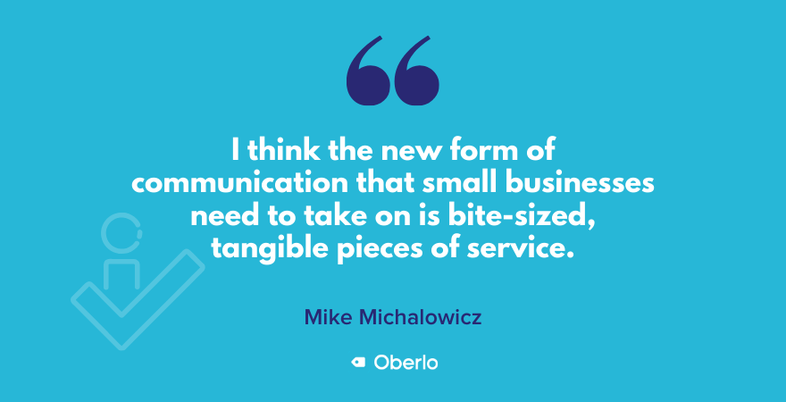 Quote on small businesses communication by Mike Michalowicz