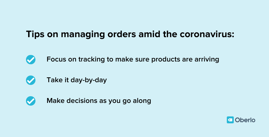 Chris provides tips on how to manage orders during the coronavirus