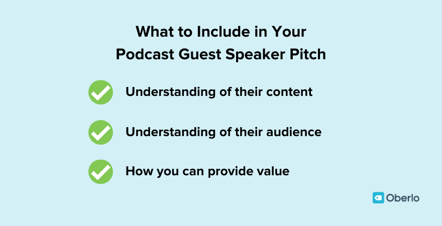 What to include in your podcast guest speaker pitch