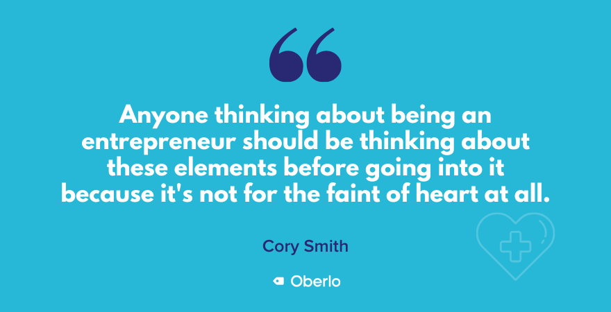 What to consider in entrepreneurship according to Cory Smith