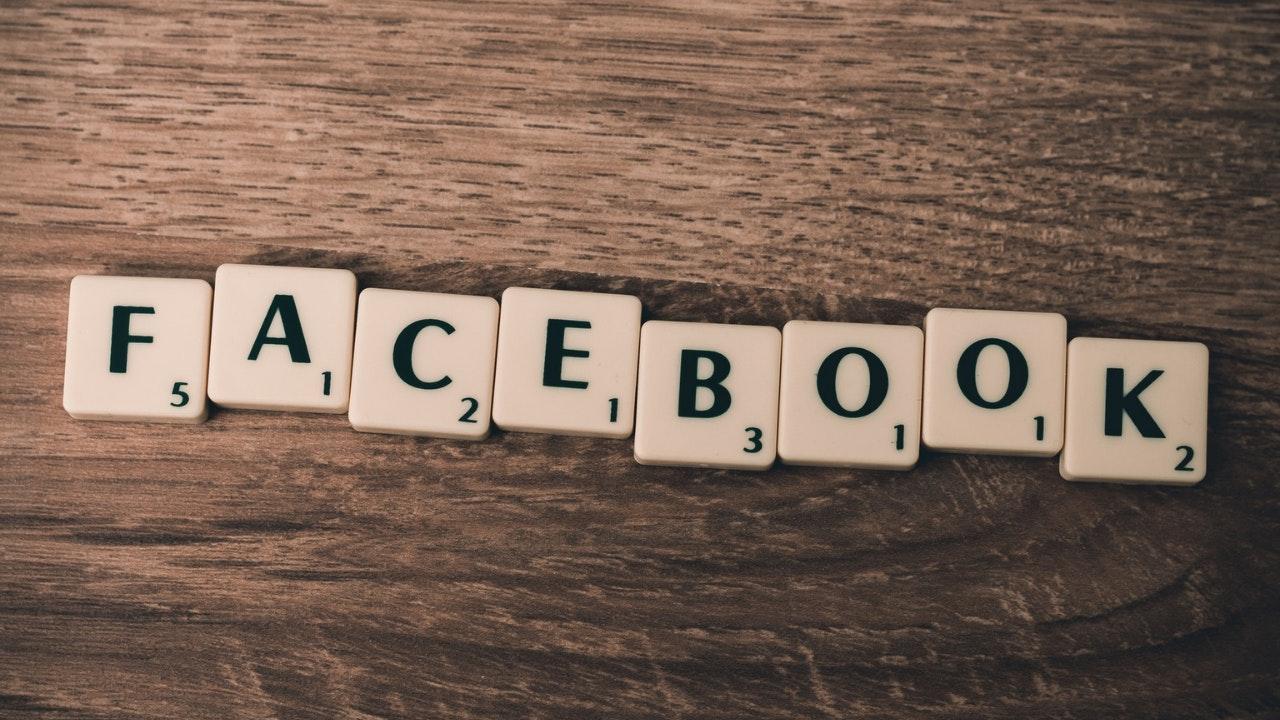 facebook in scrabble tiles