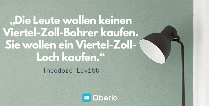 Zitat Zielgruppe - Theo Levitt