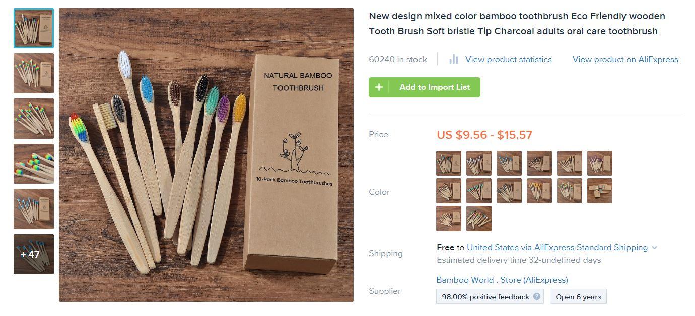 Bambus Zahnbürsten als Geschäftsideen