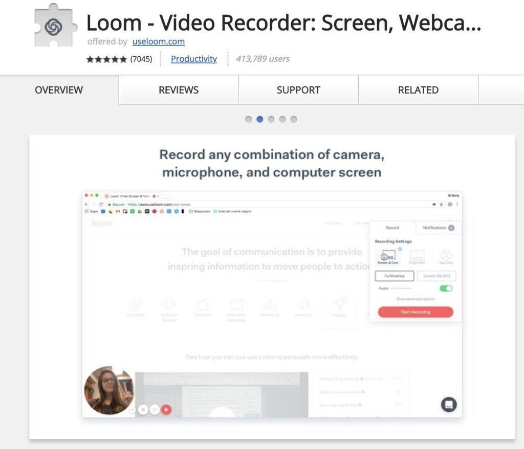 Loom Chrome erweiterungen
