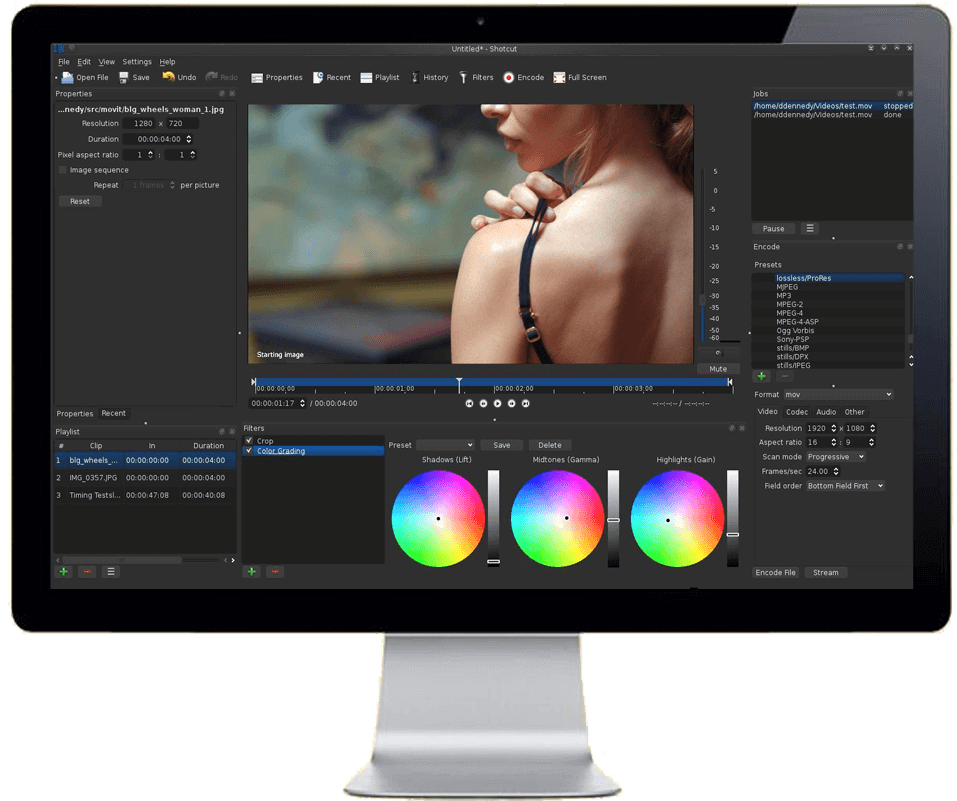 Screenshot videobearbeitungsprogramm Shotcut
