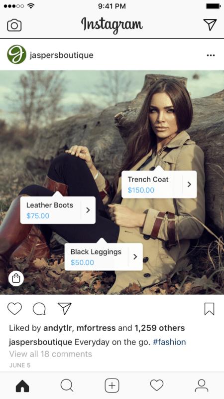 Instagram Shopping Labels