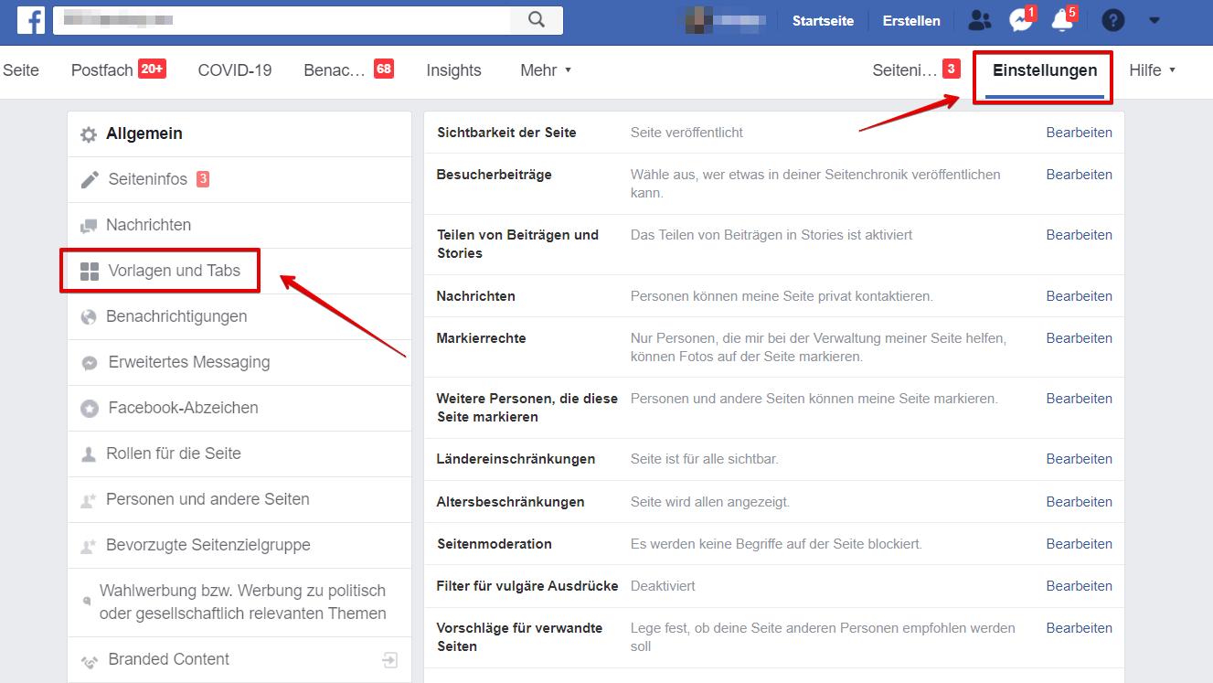 Facebook Shop erstellen - Screenshot