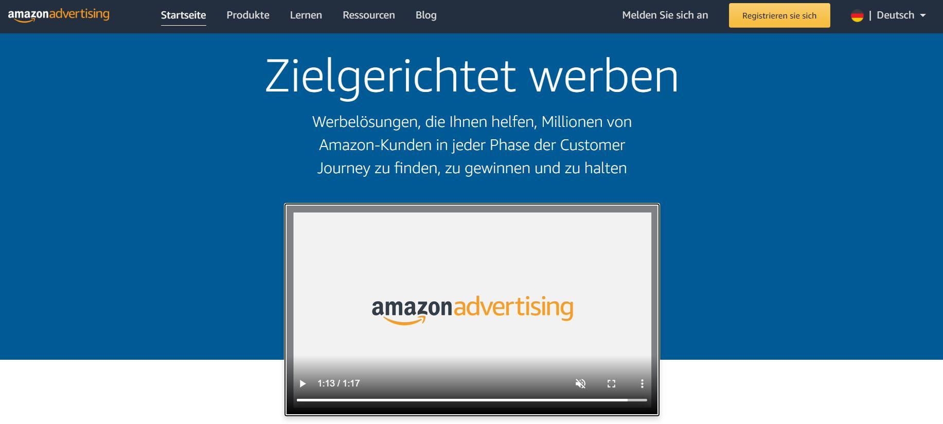 Amazon Advertising Screenshot