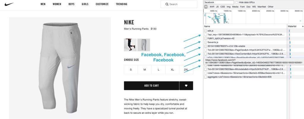 Facebook Pixel am Nike Beispiel