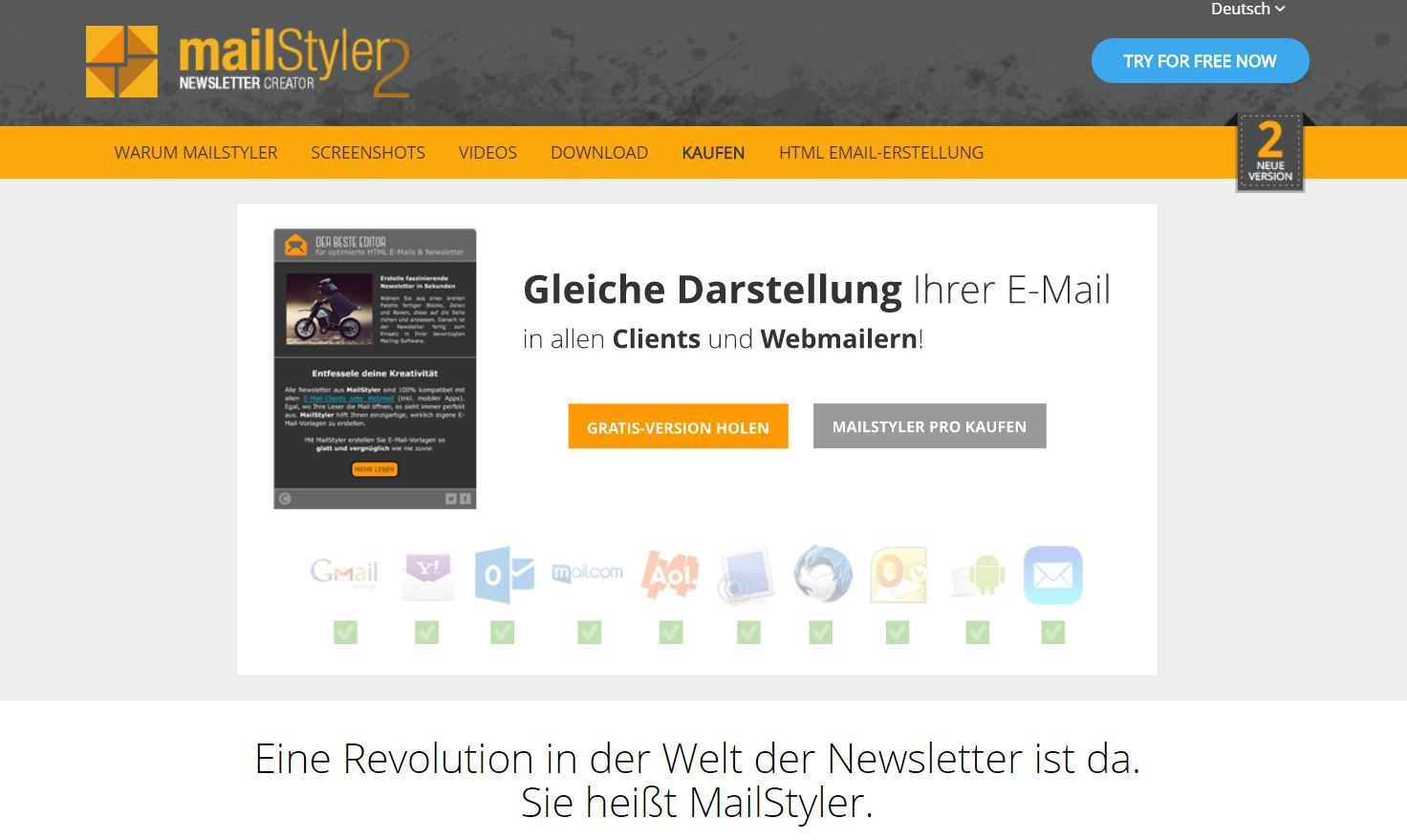 Screenshot Mailstyler