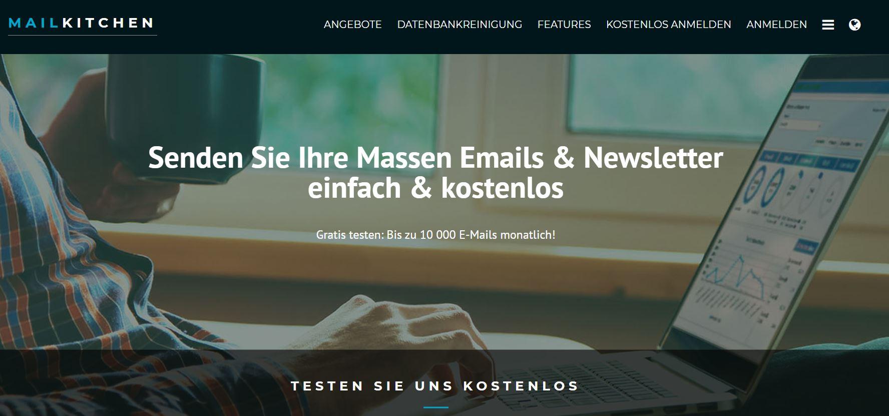 Screenshot Mailkitchen