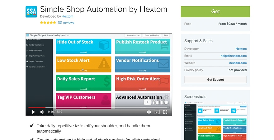 Simple Shop Marketing Automation