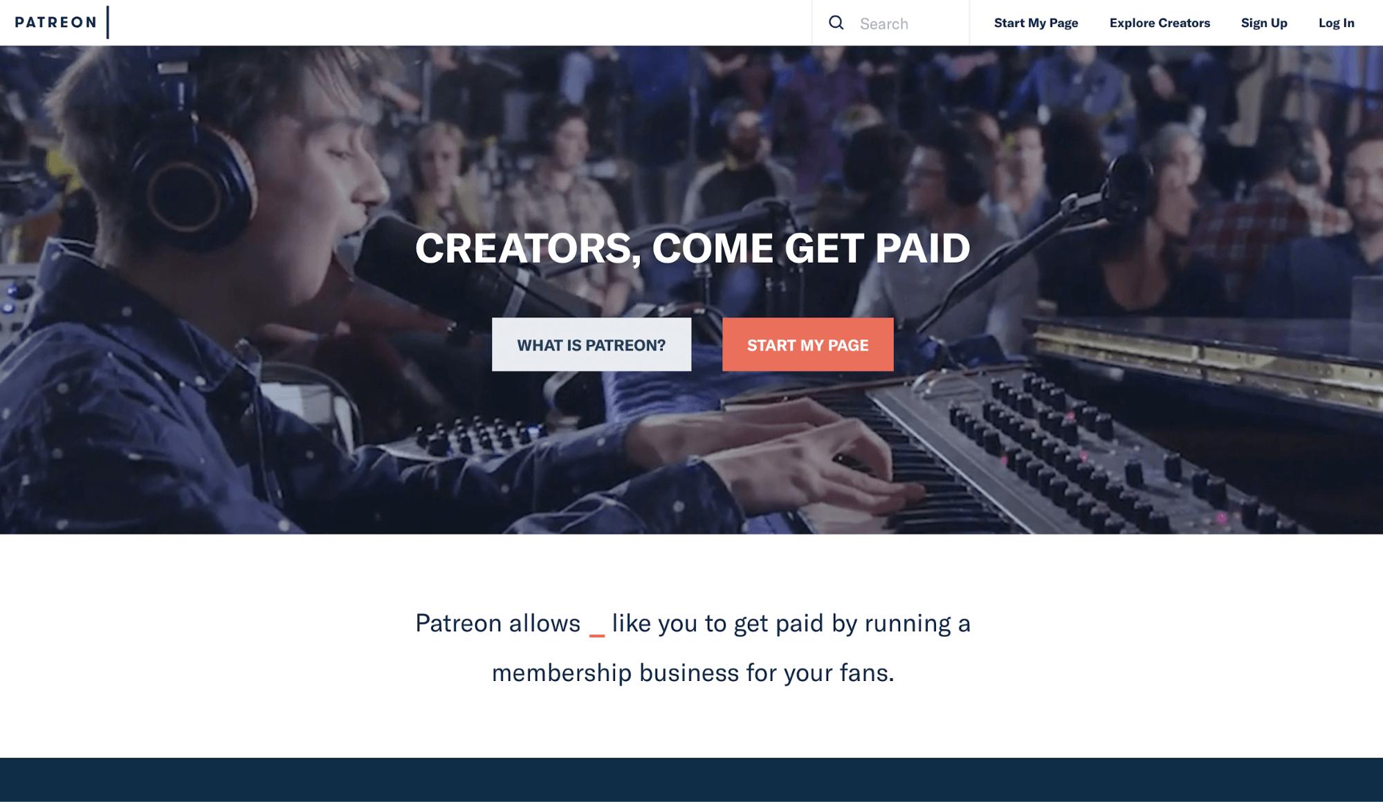 Crowdfunding Platform Patreon
