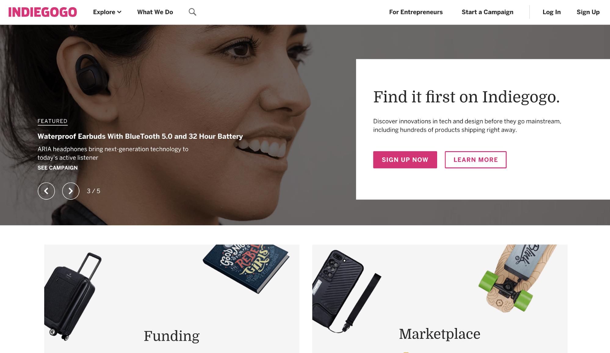 Crowdfunding Plattform Indiegogo